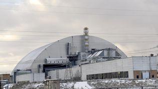 Le nouveau dôme sur la centrale nucléaire de Tchernobyl en Ukraine, le 29 novembre 2016. (SERGEI SUPINSKY / AFP)