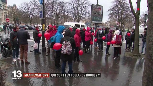 """Manifestation des """"foulards rouges"""" : qui sont-ils ?"""
