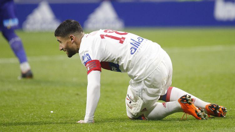 Nabil Fékir, blessé lors du Derby face à Saint-Etienne sera absent jeudi soir. (ROMAIN BIARD / ROMAIN BIARD)