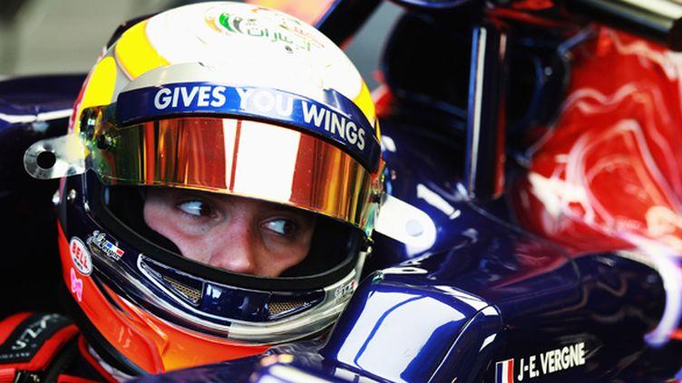 Jean-Eric Vergne dans le baquet de sa Toro Rosso (MARK THOMPSON / GETTY IMAGES EUROPE)