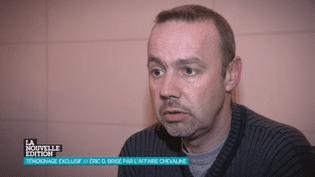 L'ancien suspect dans la tuerie de Chevaline Eric Devouassoux, interrogé par Canal + dans une vidéo diffusée le 27 février 2014. (CANAL + / FRANCETV INFO)