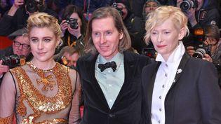 Greta Gerwig, Wes Anderson et Tilda Swinton à l'ouverture de la Berlinale, le 15 février 2018  (SKA / HSS / Wenn.com / Sipa)