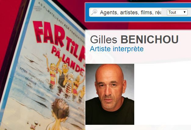 Capture d'écran de la fiche d'artiste en ligne de Gilles Bénichou. (AGENCES ARTISTIQUES / FRANCETV INFO)