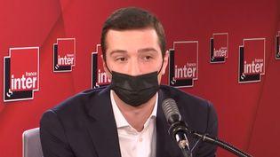 Jordan Bardella, vice-président du Rassemblement National, député européen, l'invité de France Inter. (FRANCEINTER / RADIOFRANCE)