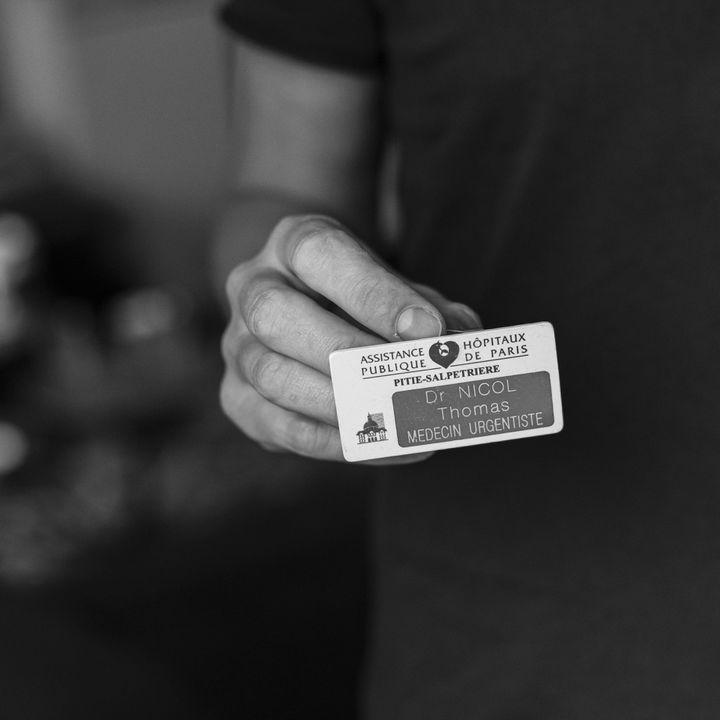 Thomas Nicol, photographié par David Fritz-Goeppinger, qui était l'un des otagesdu Bataclan, le 13 novembre 2015. (DAVID FRITZ-GOEPPINGER POUR FRANCEINFO)