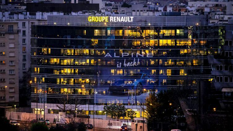 Le siège du groupe Renault à Boulogne-Billancourt (Hauts-de-Seine), le 18 décembre 2017. (MAXPPP)