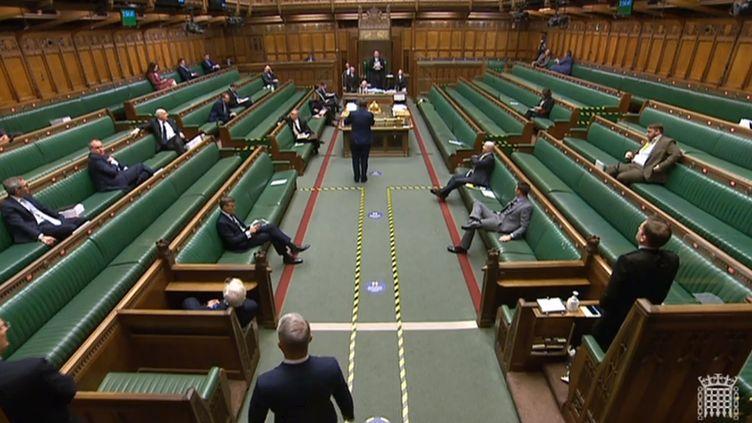 La communication du vote sur l'accord post-Brexit, le 30 décembre 2020 à la Chambre des communes britannique. (AFP)