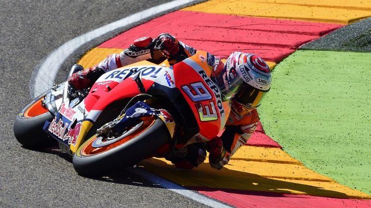 Marc Marquez (Honda), vainqueur sur ses terres (JOSE JORDAN / AFP)