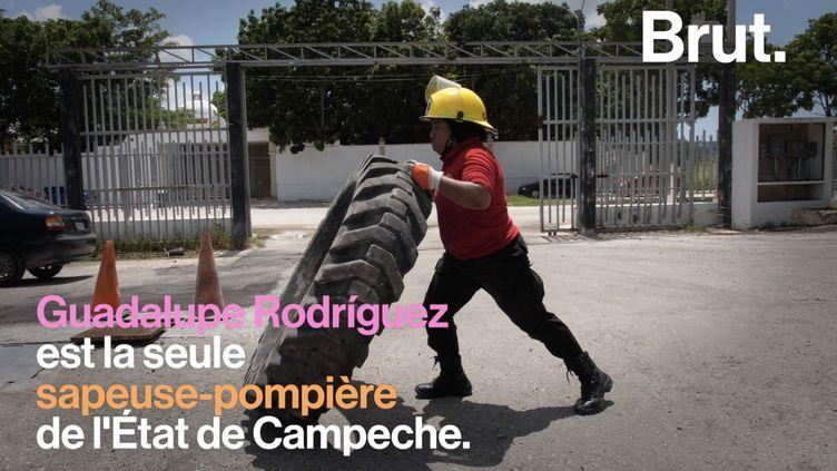VIDEO. Guadalupe Rodríguez, la sapeuse-pompière mexicaine qui casse les stéréotypes (BRUT)