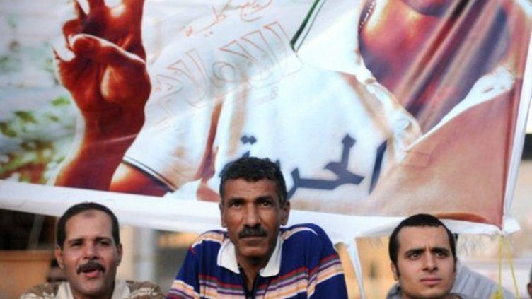 Manifestants sur la Place Tahrir du Caire le 18 Juillet 2011, pour des changements politiques et des réformes rapides (AFP PHOTO/MOHAMED HOSSAM)