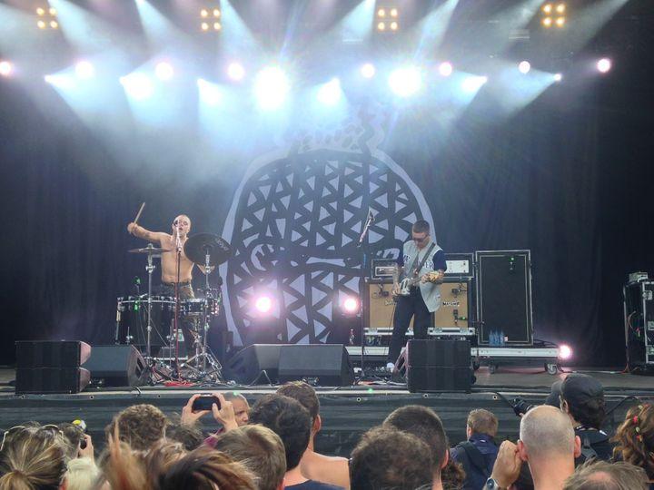 Le duo déjanté Slaves à Rock en Seine  (Pierre-Yves Grenu)