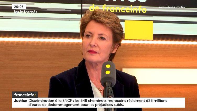 Frédérique Dumas, députée LREM des Hauts-de-Seine, vice-présidente de la Commission des affaires culturelles et de l'éducation, sur franceinfo, le 31 janvier 2018. (FRANCEINFO / RADIOFRANCE)