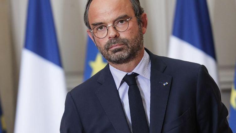 Le Premier ministre, Edouard Philippe, lors d'une conférence de presse à l'Elysée, le 5 septembre 2018 à Paris. (LUDOVIC MARIN / AFP)