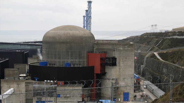 Le réacteur 1 de la centrale nucléaire de Flamanville (Manche) a été mis à l'arrêt, le 9 février 2017. (CHARLY TRIBALLEAU / AFP)