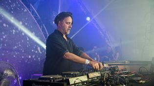 Le producteur et DJ Laurent Garnier, au festival We Love Green à Paris (France) le 1er juin 2019. (DAVID WOLFF - PATRICK / REDFERNS / GETTY)