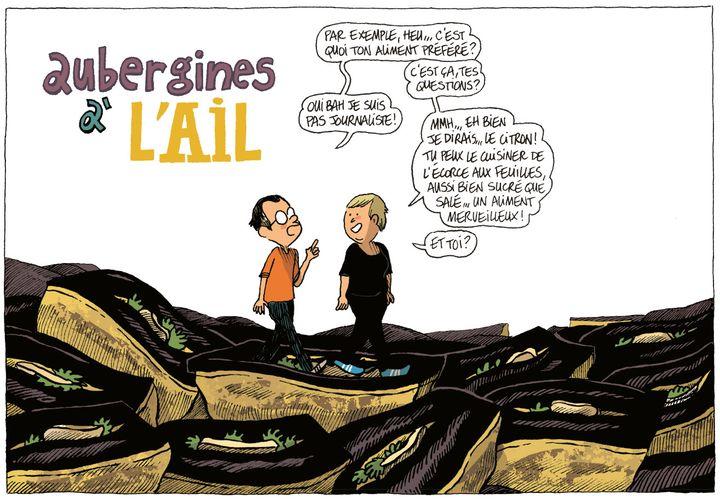 """""""A boire et à manger avec Sonia Ezgulian"""" page 44  (Guillaume Long / Gallimard BD)"""