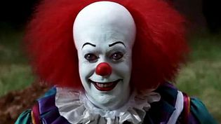 "Le clown du téléfilm inspiré du roman de Stephen King, ""Ça"". (IGOR RYABOV /  SIPA)"