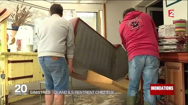 Inondations : quand les sinistrés rentrent chez eux