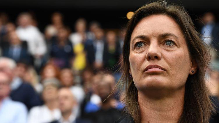 Corinne Diacre, la sélectionneuse des Bleues (FRANCK FIFE / AFP)