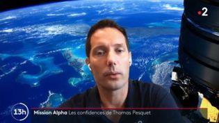 Thomas Pesquet dans le JT de France 2, le lundi 19 avril 2021. (DR)