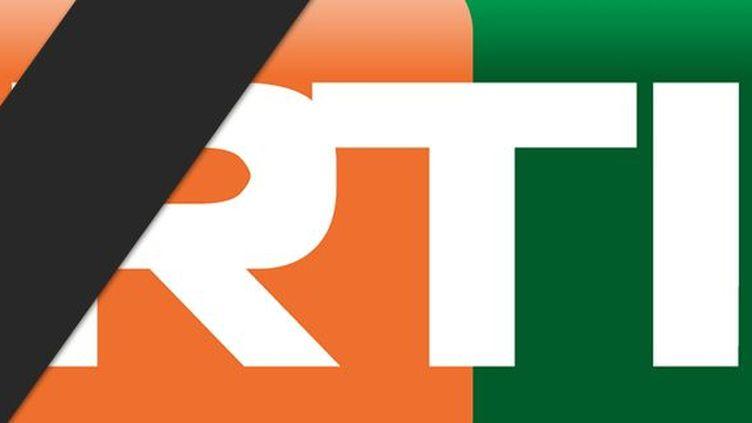 Logo de la Radiodiffusion télévision ivoirienne (RTI) barré d'une bande noire en signe de deuil après l'attaque terroriste de Grand-Bassam (DR)