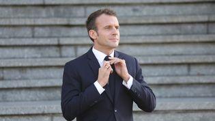 Emmanuel Macron à Albert (Somme), le 9 novembre 2018. (LUDOVIC MARIN / AFP)