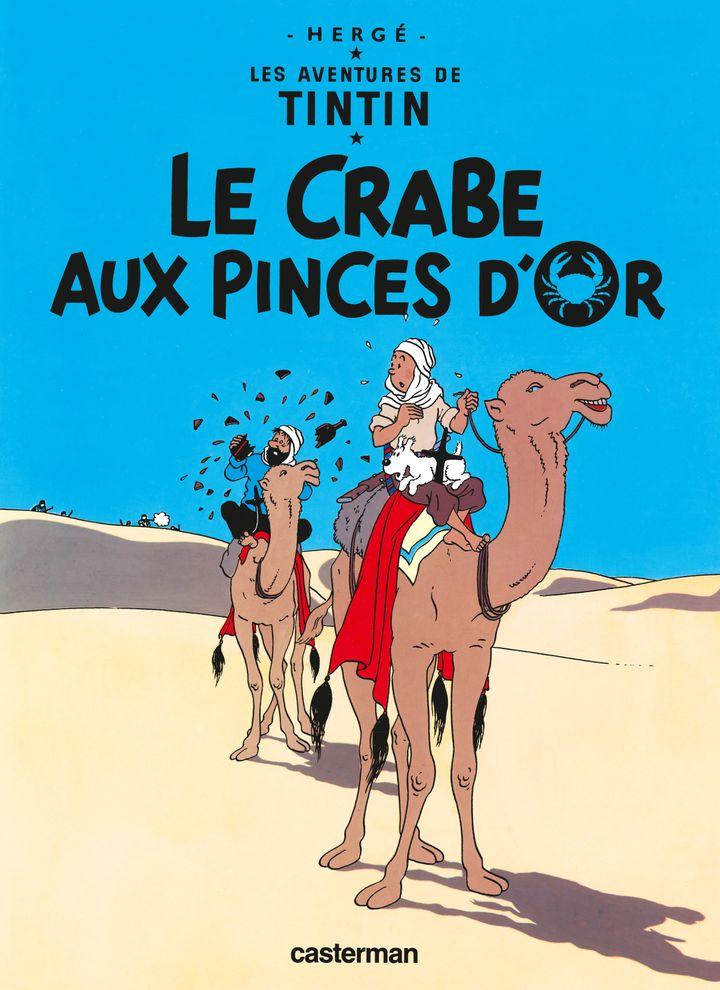 """Couverture """"Le crabe aux pinces d'or"""", d'Hergé (CASTERMAN)"""