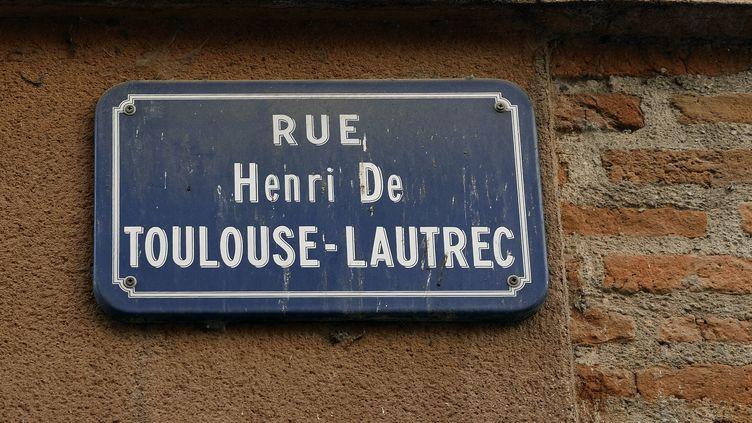 La rueToulouse Lautrec à Albi (Tarn). Seules 6% des rues françaises portent le nom d'une femme. (ERIC TEISSEDRE / PHOTONONSTOP / AFP)