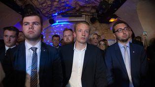 Des membres de Génération Nation lors du lancement du mouvement, le 23 juin 2018 à Paris. (MAXPPP)