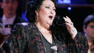 La cantatriceMontserrat Caballé, le 27 janvier 2005, au Palais des Festivals de Cannes (Alpes-Maritimes). (PASCAL GUYOT / AFP)