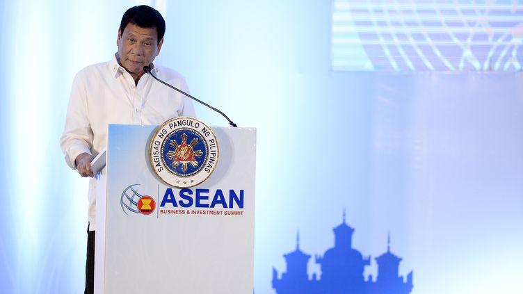 Le présidentRodrigo Duterte à Ventiane, au Laos, le 6 septembre 2016. (NOEL CELIS / AFP)