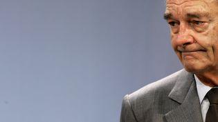 Le président Jacques Chirac, le 5 décembre 2006 à Mettlach (Allemagne). (FREDERICK FLORIN / AFP)