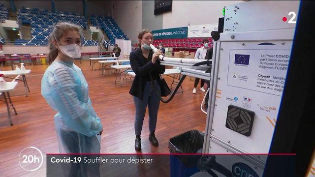 Covid-19 : à Lyon, une machine permet de se faire dépister en une expiration