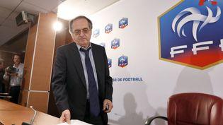 Le président de la FFF Noël Le Graët avant sa conférence de presse au siège parisien de la Fédération, le 3 juillet 2012. (THOMAS SAMSON / AFP)