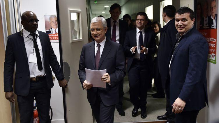 Claude Bartolone après l'annonce de sa défaite aux élections régionales en Ile-de-France, dimanche 13 décembre 2015. (LOIC VENANCE / AFP)