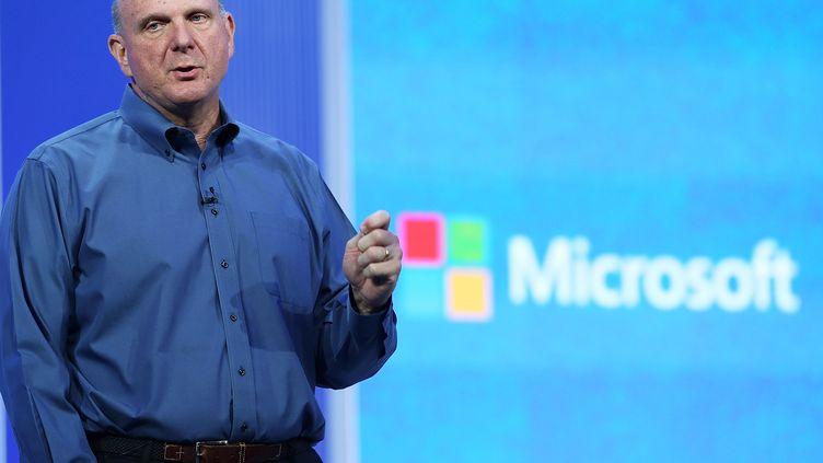 Le directeur général du géant américain des logiciels Microsoft, Steve Ballmer, lors d'une conférence, le 26 juin 2013 à San Francisco (Etats-Unis) (JUSTIN SULLIVAN / GETTY IMAGES NORTH AMERICA)