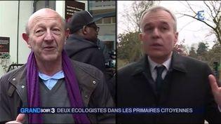 Jean-Luc Bennahmias et François de Rugy (FRANCE 3)