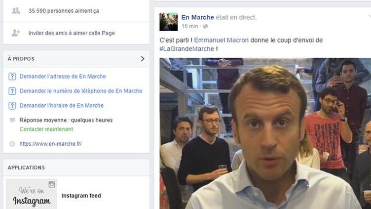 (Emmanuel Macron ce samedi matin en direct sur Facebook © capture d'écran)