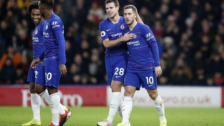 Eden Hazard a encore été décisif avec Chelsea (FRANK AUGSTEIN/AP/SIPA / AP)
