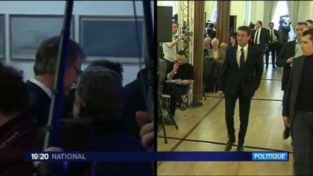 Primaire à gauche : Peillon et Valls présentent leurs programmes