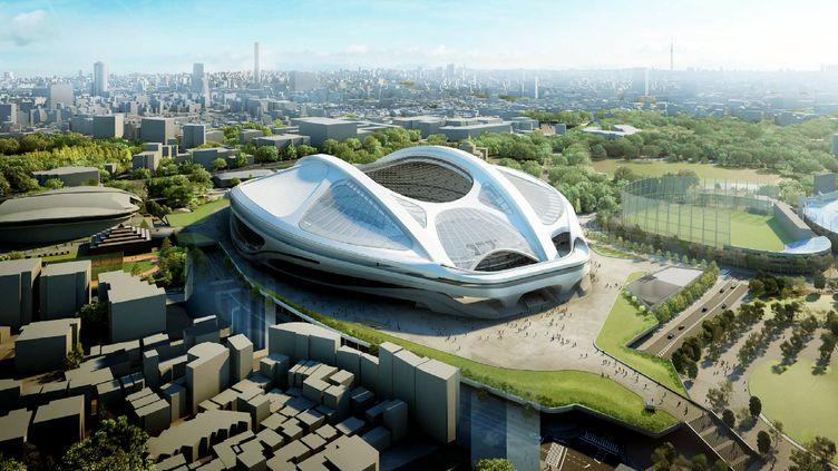 Illustration de ce que devrait être le futur Stade Olympqiue de Tokyo pour les JO de 2020.  (JAPAN SPORT COUNCIL / JAPAN SPORT COUNCIL)