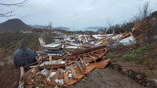 L'île de Saint-Bathélemy après le passage de l'ouragan Irma, le 7 septembre 2017. (QUENTIN LIOU / TWITTER)