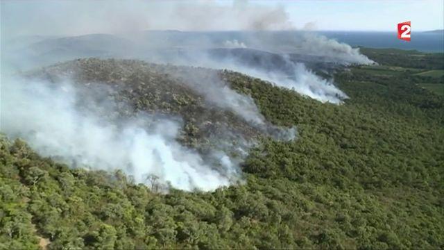 Bormes-les-Mimosas : l'incendie vu du ciel