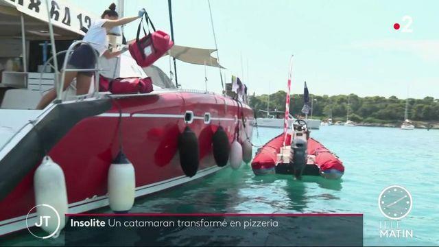Alpes-Maritimes : un catamaran-pizzeria régale les plaisanciers