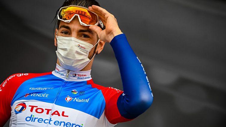 Anthony Turgis, ici avant le départ de Paris-Nice 2021 le 7 mars, réalise un excellent début de saison.