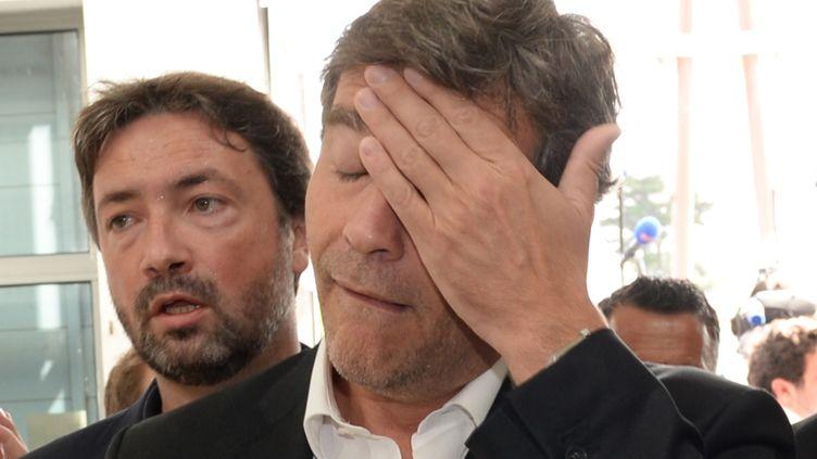 L'ex-ministre de l'Economie, Arnaud Montebourg, le 30 août 2014 à La Rochelle. (MEHDI FEDOUACH / AFP)