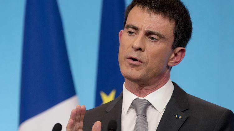 Manuel Valls, le 6 mars 2015 à Paris. (KENZO TRIBOUILLARD / AFP)