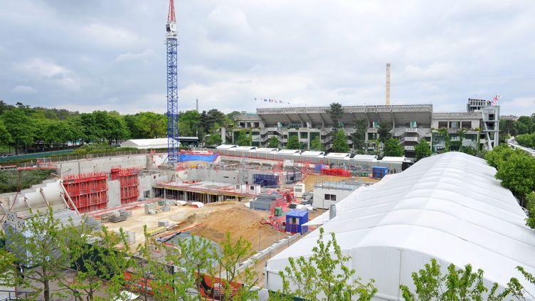 Travaux d'extension de Roland-Garros (PHILIPPE LECOEUR / MAXPPP)