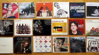 Quelques disques sur un parquet...  (Annie Yanbékian)