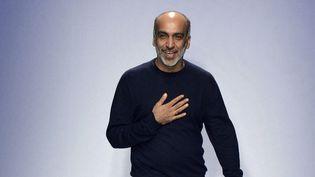 Le créateur Manish Arora, en février 2014 à Paris  (MIGUEL MEDINA / AFP)